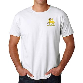 The Queens Royal Surrey Regiment Embroidered Logo - Official British Army Cotton T Shirt