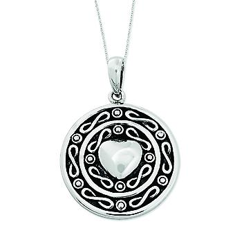 Sterlingsilber Antik Love Of a Lifetime 18 Zoll Herz Halskette - 9,6 Gramm
