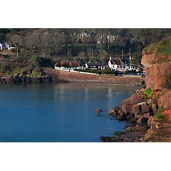 Thatched Cottages Dunmore Strand County Waterford Ireland Poster Print