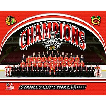 Chicago Blackhawks 2015 Stanley Cup Champions Team Sit Down Photo Sports Photo