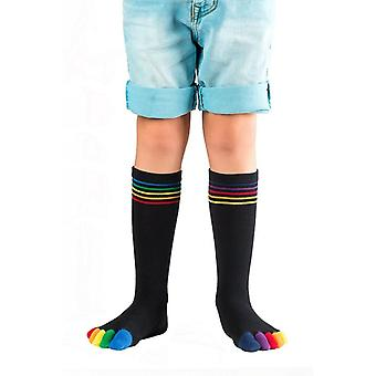Knitido Rainbow moods kids toe socks
