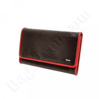 Berba SOFT LADIES WALLET 001-403-15 black red