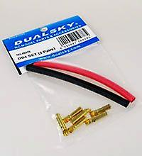 4,0 mm gold plated connector set, DB4