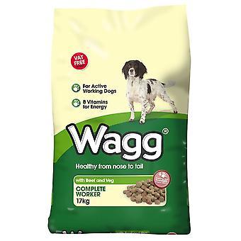Wagg komplet arbejdstager oksekød & Veg 17kg