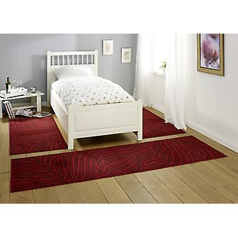 Design bed surround Belva | Red/dark brown 3teilig