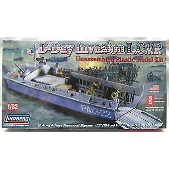 Lindberg Model Kit - D Day Invasion LCVP Boat - 1:32 Scale - 70866