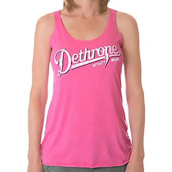 Dethrone Women's Script Tank Top - Pink