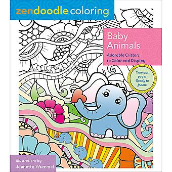 St. Martin's Books-Zendoodle Coloring Baby Animals SM-09026