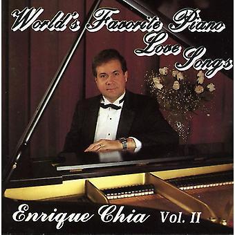 Enrique Chia - Enrique Chia: Vol. 2-verdens foretrukne klaver Love Songs [CD] USA import