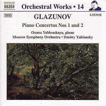 A. グラズノフ - グラズノフ: ピアノ協奏曲番 1 & 2 [CD] USA 輸入
