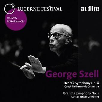 Dvorak/Brahms - Dvor K: Sinfonía n º 8; Brahms: Sinfonía No. 1 [CD] USA importar