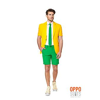 Opposuit summer suit green and gold of Australia slimline men's 3-piece premium EU SIZES