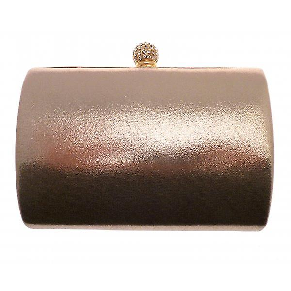 W.A.T Metallic Gold Mirrored Crystal Clutch Bag