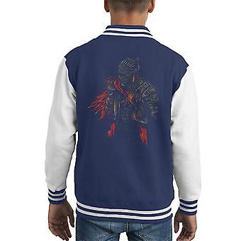 Dark Souls rote Ritter Kid Varsity Jacket