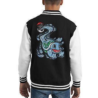 Varsity Jacket Squirtle Pokeball Pokemon capretto