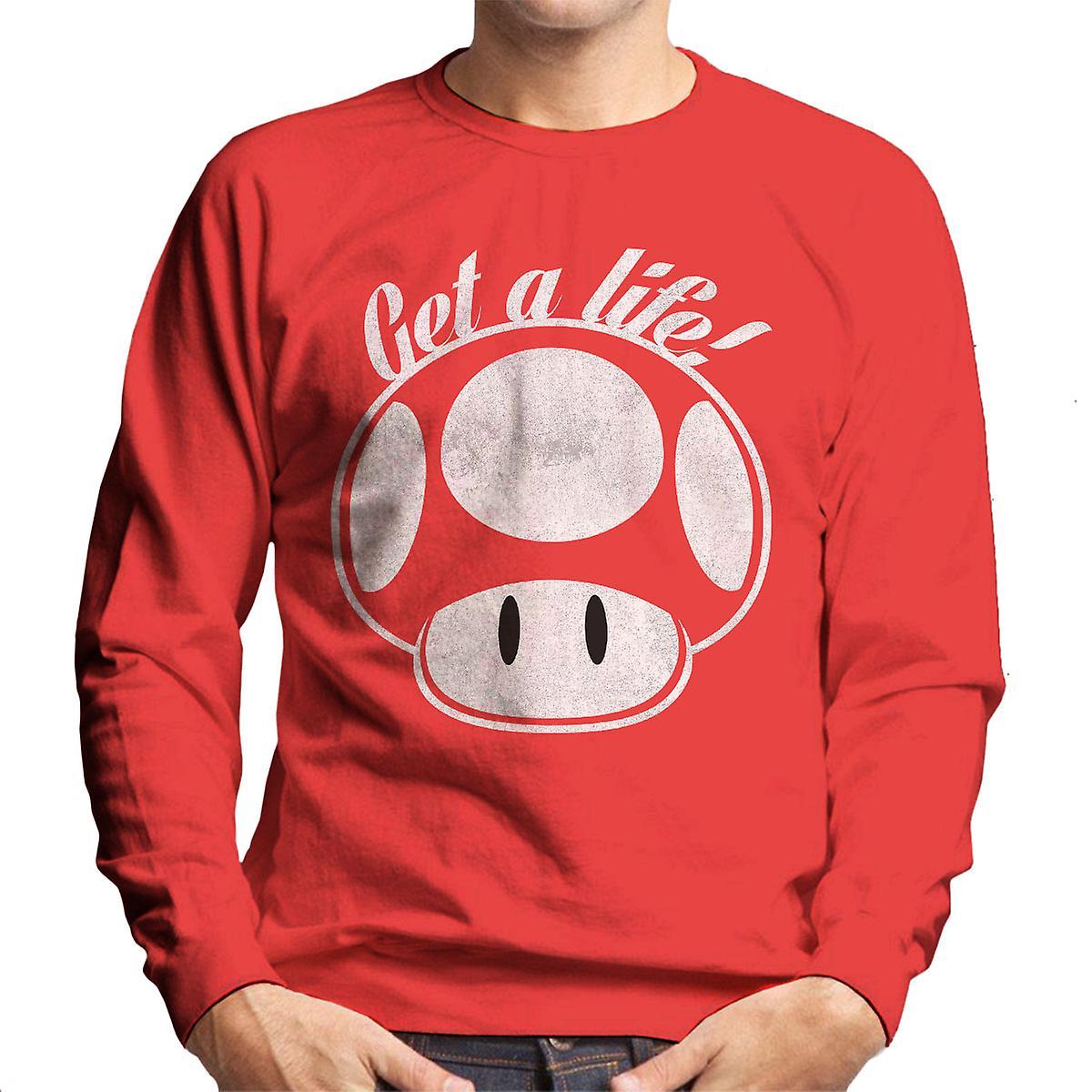 Super Mario Get A Life Men's Sweatshirt