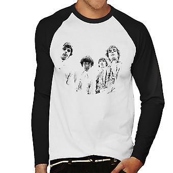 Pink Floyd Ruskin Park ampua 1967 mustavalkoinen miesten Baseball pitkähihainen t-paita