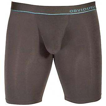 Obviously PrimeMan AnatoMAX Boxer Brief 9inch Leg - Titanium Grey