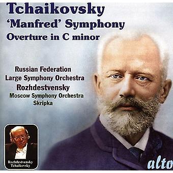 P.I. Tsjajkovski - Tsjaikovski: Manfred Symfonie; Ouverture in C Minor [CD] USA import