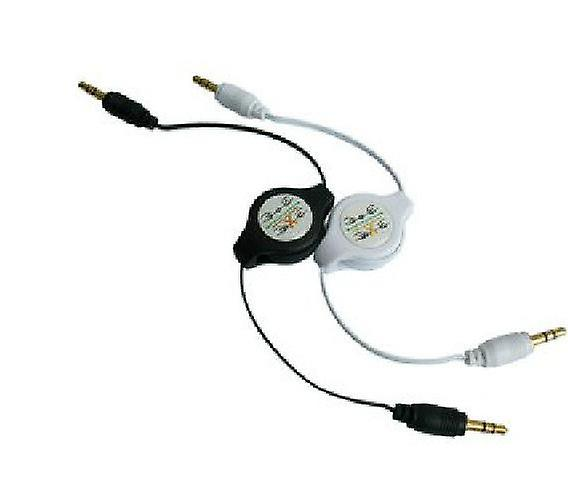 Retractable 3.5mm Male - Male Jack Auxiliary Audio Cable iPod MP3 iPhone Car
