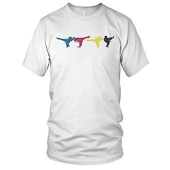 Karate Kick Pop Art Mens T Shirt