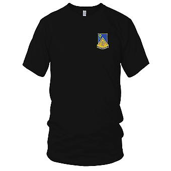 US Army - 125th Infantry Regiment Embroidered Patch - Mens T Shirt