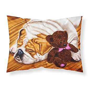 English Bulldog and Teddy Bear Fabric Standard Pillowcase
