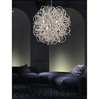 Firstlight Industrial Chrome Messy Wire Ceiling Pendant Light