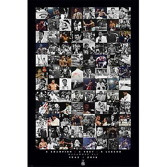 Muhammad Ali - Montage - Commemorative Poster Poster Print