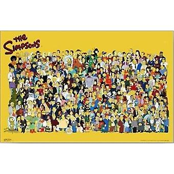Simpsons Cast Poster Poster Print