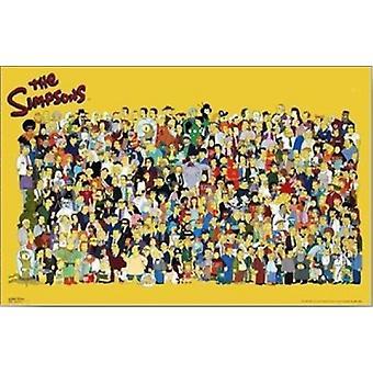 Simpsons Cast Plakat Poster drucken