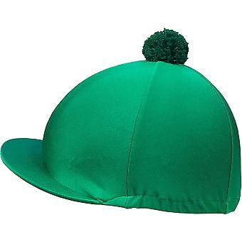 Racesafe Lycra Patterned with Pom Pom Hat Cover