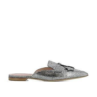 Alberta Ferretti women's 66018002600 silver leather sandals