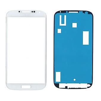 Samsung Galaxy S4 i9500 glas/skärm/display med klistermärke-vit