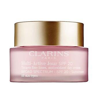 Clarins multi Active antioxydant jour crème SPF20 peau tous Types 1.7 oz/50 ml