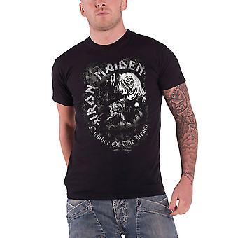 Iron Maiden T Shirt Number of the Beast Grey Tone Band Logo Official Mens Black