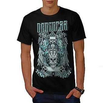 Dunkelheit gotische Schädel Männer BlackT-Shirt   Wellcoda