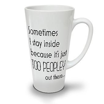 Aufenthalt im Angebot neuer weißer Tee Kaffee Keramik Latte Becher 17 oz   Wellcoda