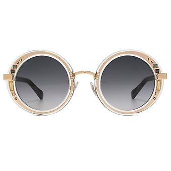 Jimmy Choo Gem Sunglasses In Gold Black