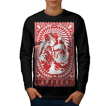 GoFFer T-shirt van de koker van de BlackLong van de Vintage mannen van Hamster | Wellcoda