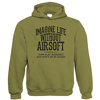Life Without Airsoft Mens Funny Hoodie (S to 5XL)