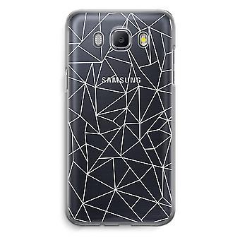 Samsung Galaxy J5 (2016) Transparent Case - Geometric lines white