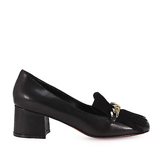 Franco Colli FC1133NERO ladies black leather pumps