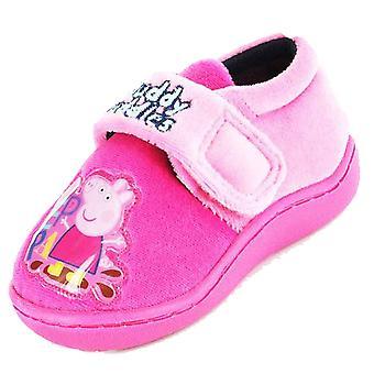 Kids Girls Novelty Peppa Pig Cartoon Character Slipper Bootee