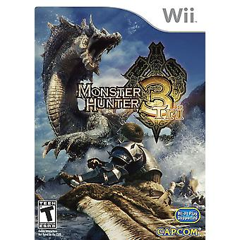 Nintendo Wii monster hunter 3 tri juego
