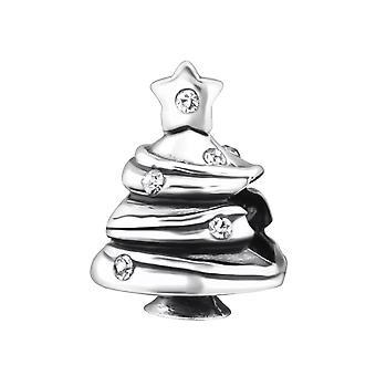 Kerstboom - 925 Sterling Zilver Jewelled kralen - W27666X