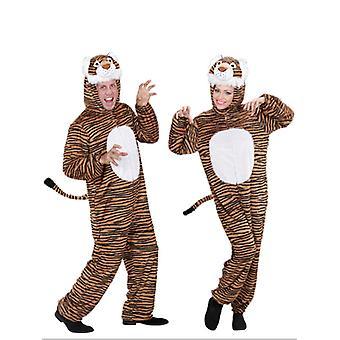 Plysch roliga Tiger (Hooded Jumpsuit med Mask)