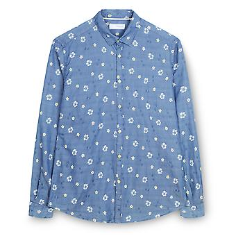 Fabio Giovanni Manfio Shirt - Mens High Quality Italian Classic Denim Floral Shirt