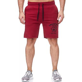 TAZZIO men's sweat short Bordeaux