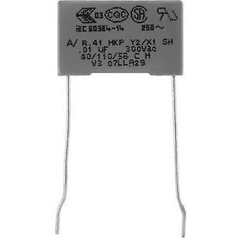 Kemet R413N31000000M+ MKP suppression capacitor Radial lead 100 nF 300 V 20 % 22.5 mm (L x W x H) 26.5 x 8.5 mm x 17